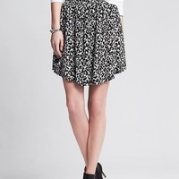 Banana Republic Womens Animal Print Skirt