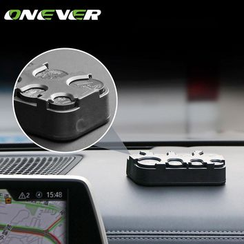 Onever Car-styling Auto Car Storage Box Support Euro Coin Money Box Plastic Container Tidying Stationery Car Coin Organizer