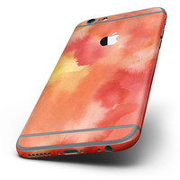 The Red 53 Absorbed Watercolor Texture Six-Piece Skin Kit for the iPhone 6/6s or 6/6s Plus