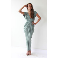 Mint Maxi Dress ,Pistachio Dress, Maxi Dresses , Bridesmaid Dress, Formal Dress, Party Dress