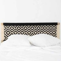 Magical Thinking Diamond Headboard- Black & White Queen