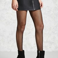 Metallic Fishnet Tights