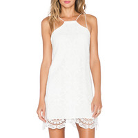 STYLESTALKER Hong Kong Shift Dress in White