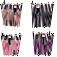 15 pcs/Sets Eye Shadow Foundation Eyebrow Lip Brush Makeup Brushes Tool Design [9302691210]