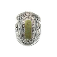 Natalie B Jewelry Ava Cuff In Silver/Green