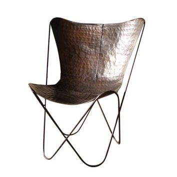 Iron Butterfly Chair ~ Antique Black/Espresso