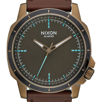 NIXON Ranger Ops Leather Brass/Brown