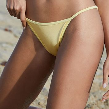 LA Hearts Contrast Binding Cheeky Bikini Bottom at PacSun.com