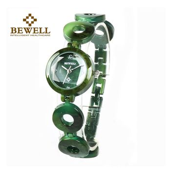 BEWELL New Arrival Jewels Womens Watches Bangle Jewels & Stones Limited Edition Girl Casual Jewelry Quartz Summer Watch 075A