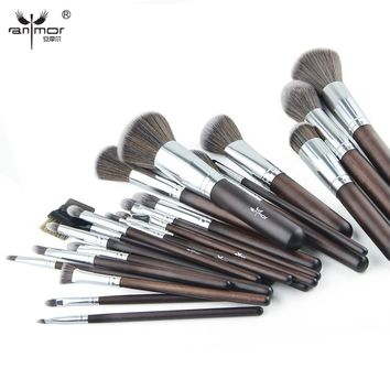 Anmor 23 pcs Makeup Brush Set Professional Synthetic Makeup Brushes Soft Powder Blush Eyeshadow Make Up Tools GR002