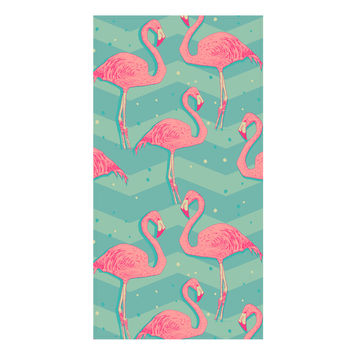 Flamingo Birds Towel