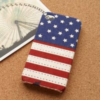 USA Flag Fabric iPhone Case