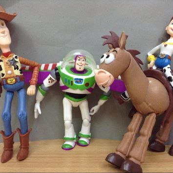 4pcs/set Toy Story 3 Buzz Lightyear Woody Jessie PVC Action Figures Toys Dolls Child Toys