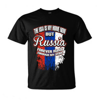 The USA Is My Home Now But Russia Forever Runs Through My Veins - Ultra-Cotton T-Shirt