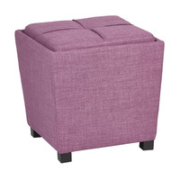 OSP Designs 2-Piece Ottoman Set with tray top in Milford Dahlia Fabric