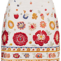 Troubadour Floral Embroidered Pelmet Skirt - Topshop