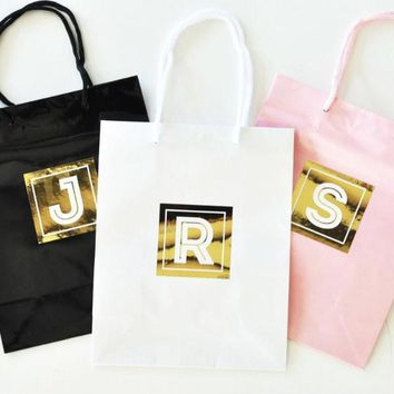 Monogram Gift Bags (Set of 6)