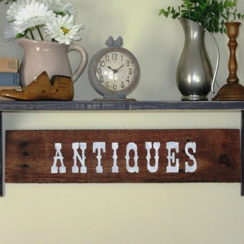 "Reclaimed wood ""Antiques"" sign, 24""X10.75"" Wood Sign,Pallet Wood Sign, Pallet wood ""Antiques"" SignPhotography Backdrop, Rustic Decor"