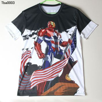 Iron Man Patriot 3D T Shirts All Over Print