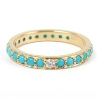 Catbird :: WHAT'S NEW: jewelry :: Turquoise Diamond Eternity Ring