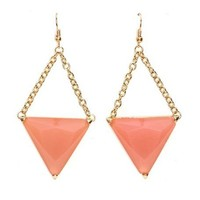Chain Link Triangle Earrings: Charlotte Russe