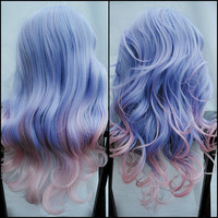 SALE - UNICORN ENCHANTMENTS wig // Pastel Ombre // Purple Pink Blonde Blue Hair // Long Wavy Sweet Lolita wig