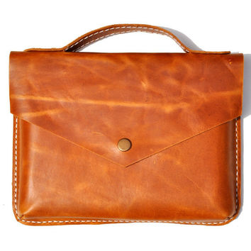Leather iPad /Kindle  bag sleeve cover