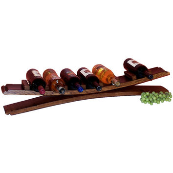 7 Bottle Wine Holder Display (Made from Wine Barrels)