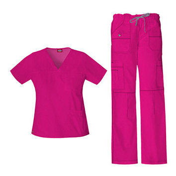 Gen Flex by Dickies Womens Junior Scrub Set