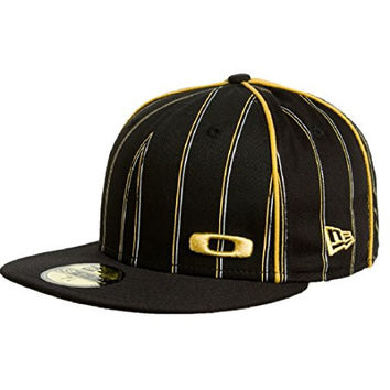Oakley Square O Pinstripe Hat Black, 7 3/8