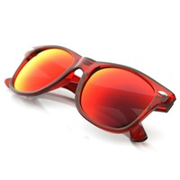 Classic Retro Fashion Translucent See-Through Colorful Horn Rimmed Sunglasses