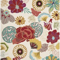 Four Seasons Country & Floral Indoor/Outdoorarea Rug Ivory / Red