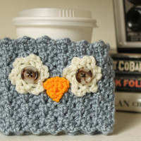 Crochet Owl Reusable Coffee Sleeve