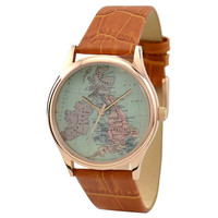 Vintage Map Watch (United Kingdom)