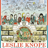 Leslie Knope for City Council - Parks and Recreation Dept. Art Print by Jasey Crowl