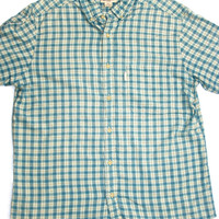 Vintage Woolrich Short Sleeve Plaid Button Up Mens Size Medium