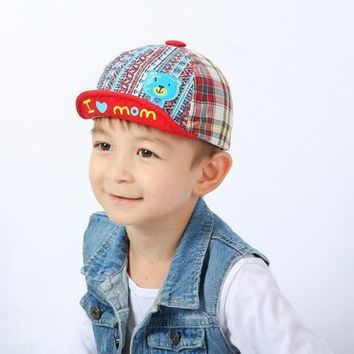 Baby Boy Girl Kid Hat Peaked Baseball Beret Cap