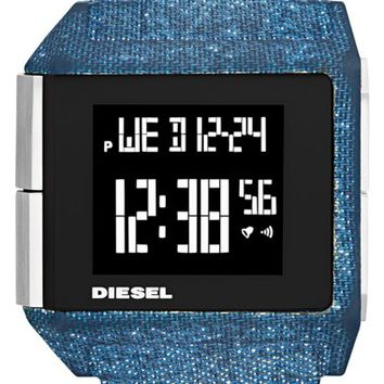 Men's DIESEL 'Big Bet' Digital Bracelet Watch, 41mm x 46mm - Blue