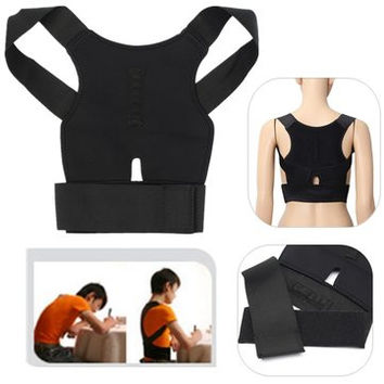 Back Support Belt - Lumbar Shoulder Posture & Spine Correction Brace