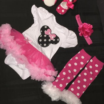 Infant Minnie Onesuit Toddler Onesuit Baby Onesuit Infant Romper Toddler romper Tutu Birthday Dress Baby Romper Heart Plaid