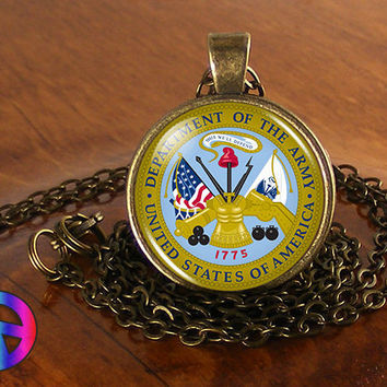 US United States Army Military Necklace Jewelry Pendant Men Mens Women Art Gift