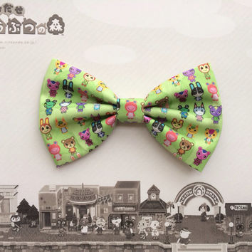 Animal Crossing New Leaf Villagers Inspired Hair Bow or Bow Tie