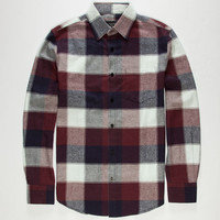 Coastal Hounds Mens Flannel Shirt Burgundy  In Sizes