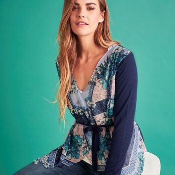 Yumi Floral Waterfall Cardigan
