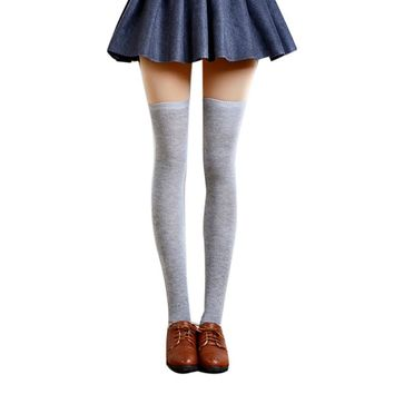 FEITONG 2016 Autumn Women's Socks Sexy Warm Thigh High Over The Knee Socks Long Cotton Stockings Knitted Stockings