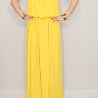 Yellow dress Summer Maxi dress Bridesmaid dress