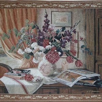 050352 European Nostalgia S Flowers Sitting Room Tv Setting Wall Adornment Wall Tapestries Free Shipping