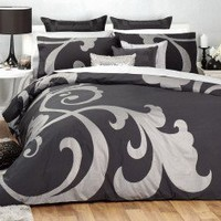 Jasper Black Quilt Cover by Logan & Mason - Quilt & Doona Covers - Bed Linen