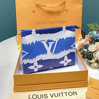 Louis Vuitton LV 2020 New Gradient Print Letter Men's and Women's Briefcases Cosmetic Case