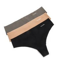 Calvin Klein Underwear Invisibles Thong 3 Pack